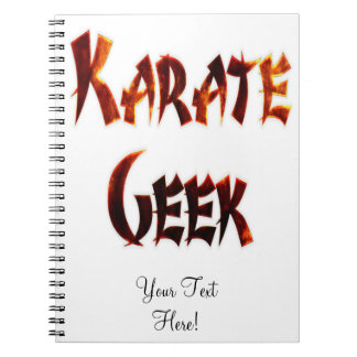 Karate Geek Fire Spiral Note Books