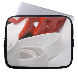 Karate gi and sparring headgear laptop sleeve