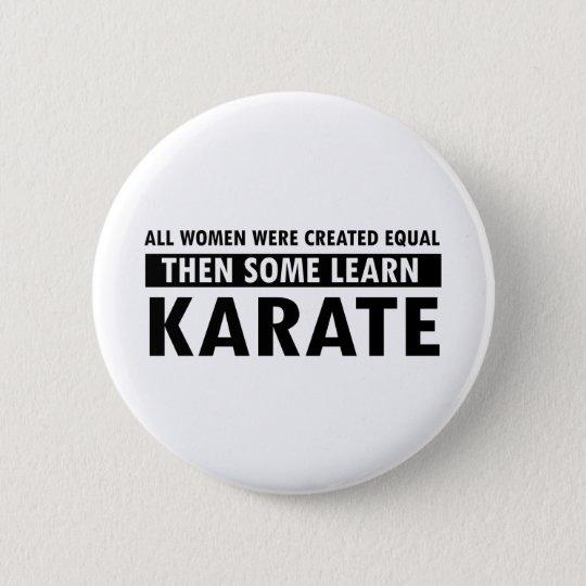 Karate gift items 6 cm round badge