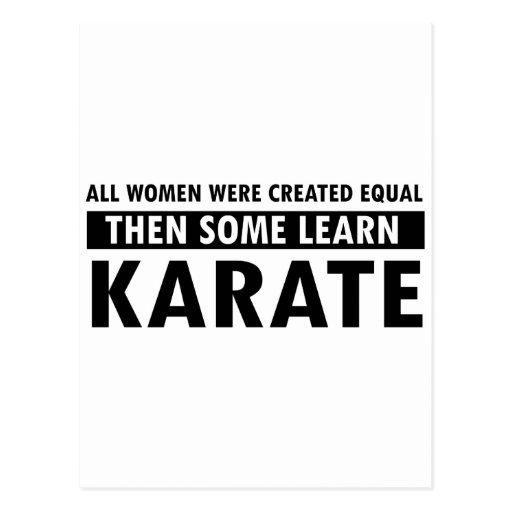 Karate gift items postcard