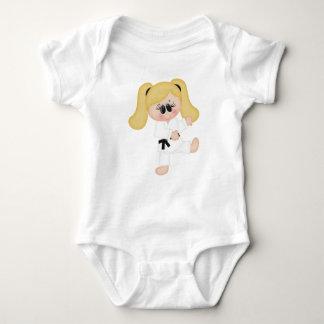 Karate Girl Kids Sports Baby Bodysuit