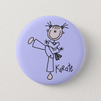 Karate Girl Tshirts and Gifts 6 Cm Round Badge