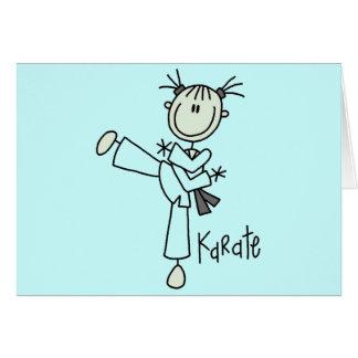 Karate Girl Tshirts and Gifts Card