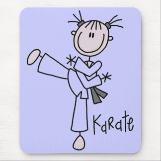 Karate Girl Tshirts and Gifts Mouse Mat