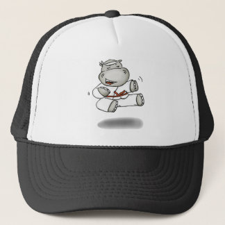 Karate Hippo Trucker Hat