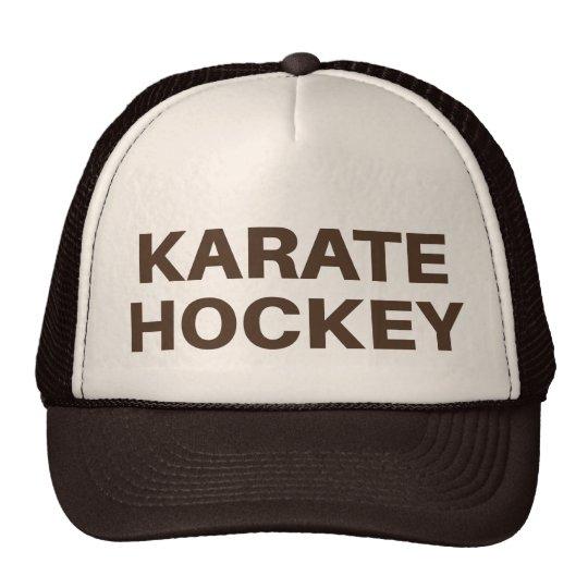 KARATE HOCKEY fun slogan trucker hat