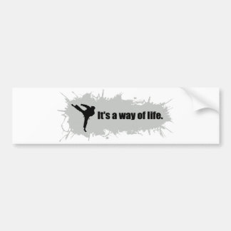 Karate is a Way of Life Bumper Sticker