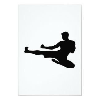 Karate jump kick personalized invitations