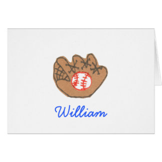 Karate Kat baseball ID notecard