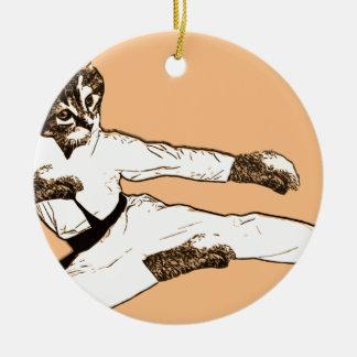 Karate Kat Christmas Ornament