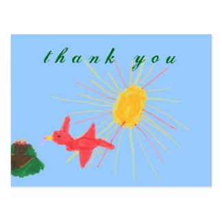 Karate Kat Graphics bird's nest thank-you Postcard