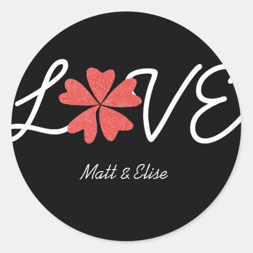 Karate Kat Graphics love-in-bloom wedding seal Sticker