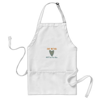 "Karate Kat personalized ""Will Cook for Kisses"" Standard Apron"
