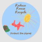 """Karate Kat """"protect the planet"""" sticker"""