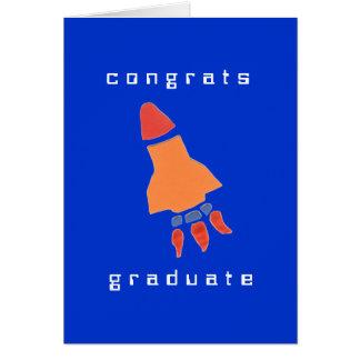 Karate Kat rocket graduation card