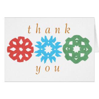 Karate Kat snowflake trio thank-you Greeting Card