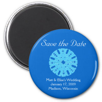 Karate Kat winter wedding save-the-date Magnet