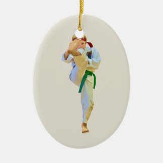 Karate Kicking Ornament
