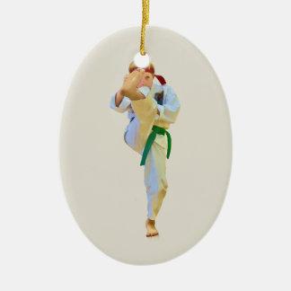 Karate Kicking Ornament