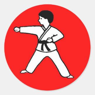 Karate Kid 1 on red sticker