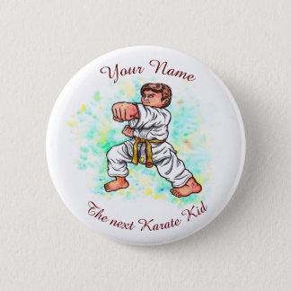 Karate Kids brave boy punching 6 Cm Round Badge