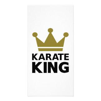Karate king champion customized photo card