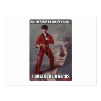 Karate Kyle meme Bullies break my pencils Postcards