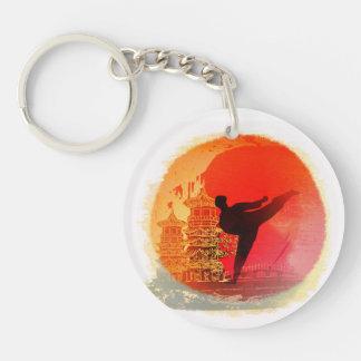 karate man Key Ring Double-Sided Round Acrylic Key Ring