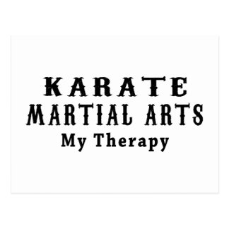 Karate Martial Arts My Therapy Postcard
