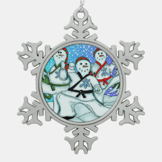 Karate Martial Arts Snowmen Ornaments