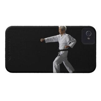 Karate master demonstrating, studio shot iPhone 4 covers