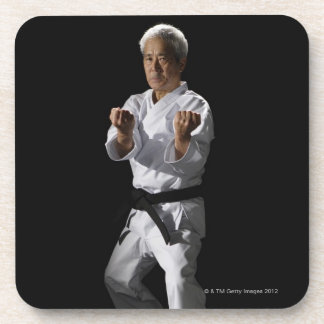 Karate master, portrait, studio shot 2 coaster