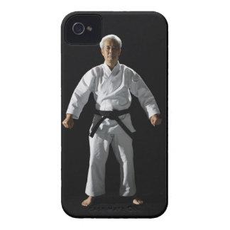 Karate master, portrait, studio shot iPhone 4 case