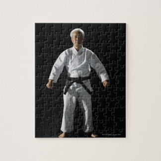 Karate master, portrait, studio shot jigsaw puzzle