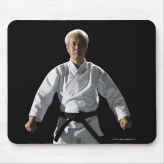 Karate master, portrait, studio shot mouse mat