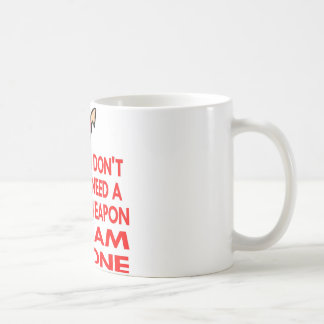 Karate, MMA, I AM A Weapon Basic White Mug