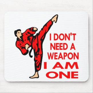 Karate, MMA, I AM A Weapon Mouse Mat