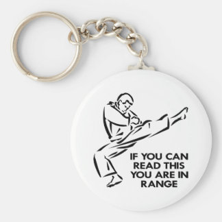 Karate, MMA, You ARE In Range Basic Round Button Key Ring