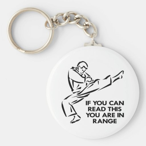 Karate, MMA, You ARE In Range Key Chains