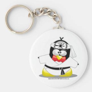 Karate Penguin Keychains