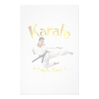 karate personalized stationery
