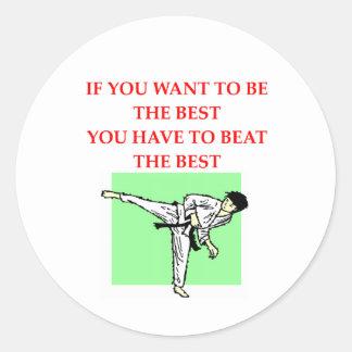 karate png round sticker