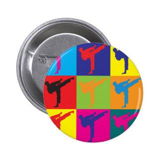 Karate Pop Art 6 Cm Round Badge