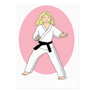 Karate Princess Postcard