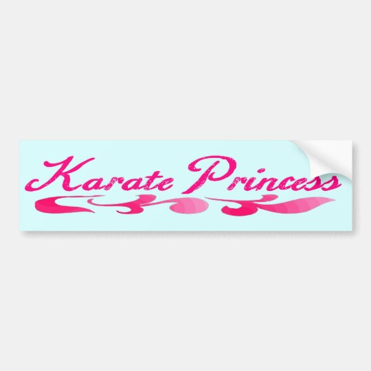 Karate Princess Swirl Bumper Sticker