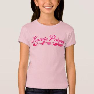 Karate Princess Swirl Girls Baby Doll T Shirt