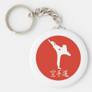 Karate Rising Sun Basic Round Button Key Ring