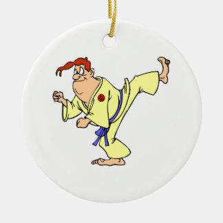 Karate Round Ceramic Decoration