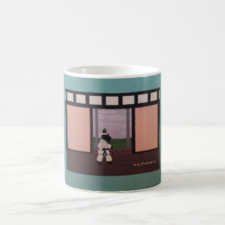 KARATE SCOTTIE BASIC WHITE MUG