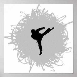Karate Scribble Style Print
